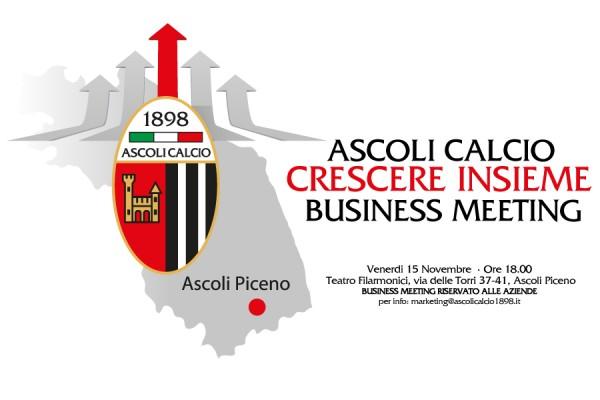 Venerdì il primo Business meeting  organizzato dall'Ascoli Calcio