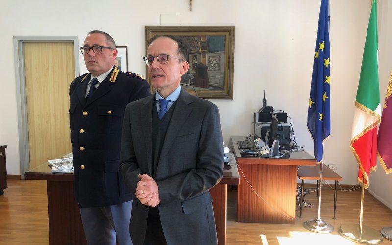"""Polizia, si è insediato il nuovo Questore Paolo Pomponio. """"Sul coronavirus soglia di attenzione alta"""""""