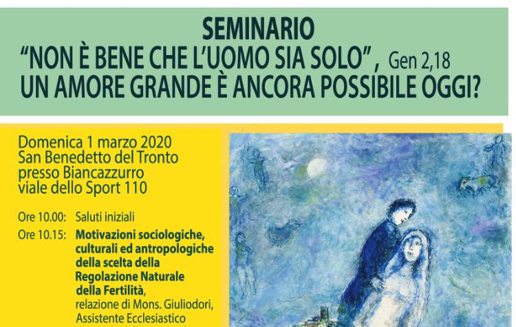 San Benedetto, un seminario gratuito sui temi della famiglia