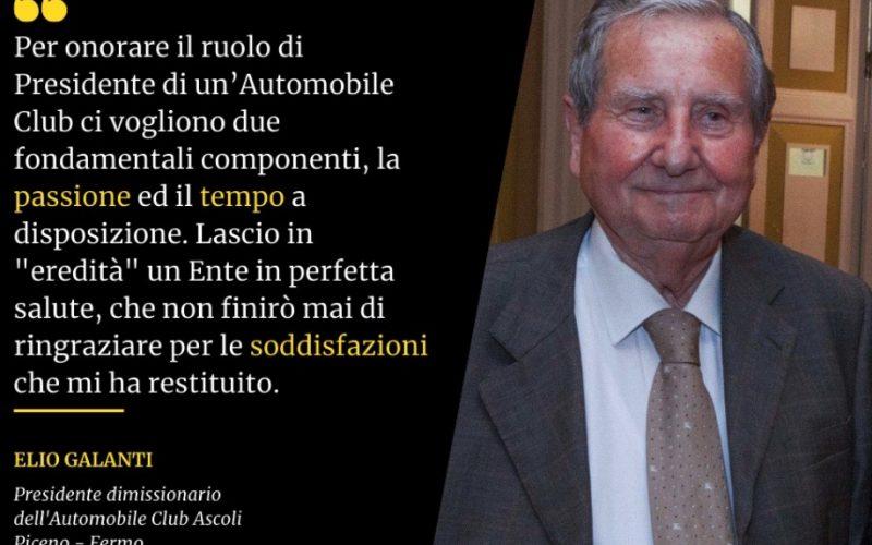 Lutto, è morto l'ex presidente dell'Aci Elio Galanti