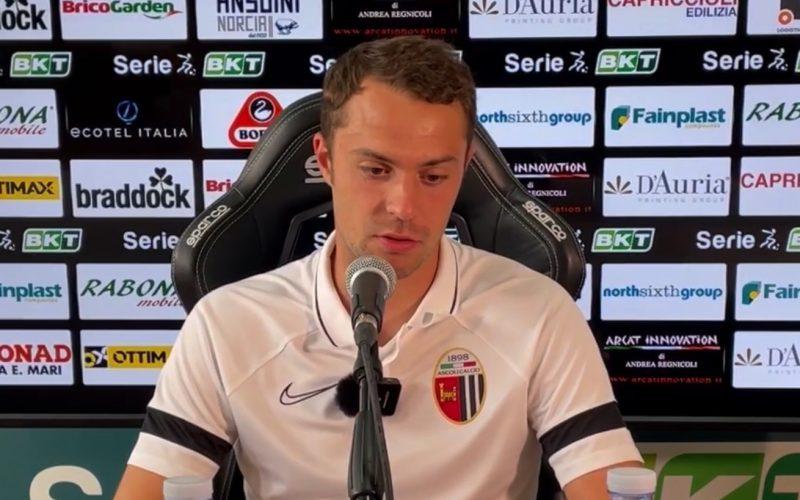"""Ascoli, De Paoli: """" C'era un fallo di mano in area bresciana"""", Felicioli: """"Il gol emozione straordinaria"""""""